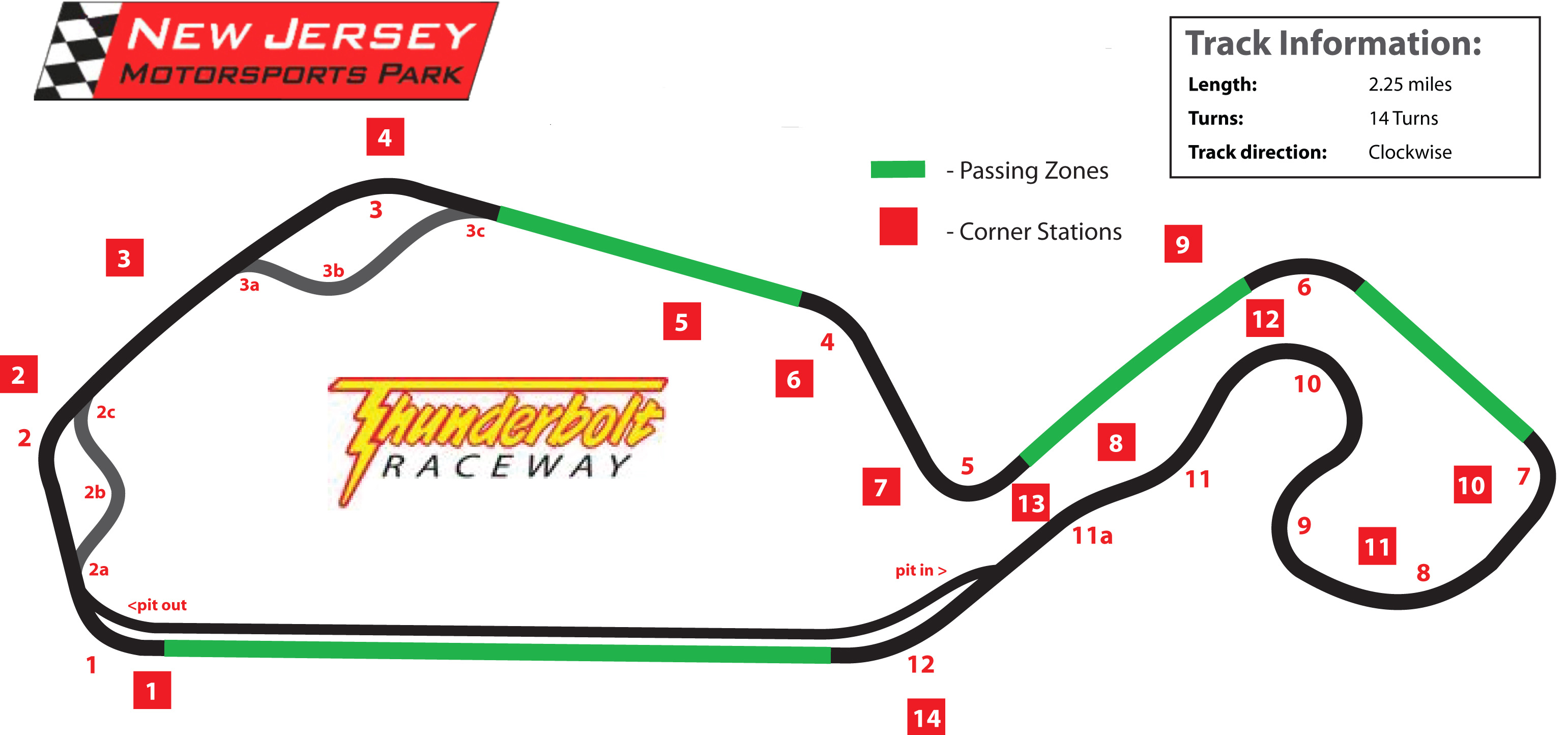 NJMP Thunderbolt logo map